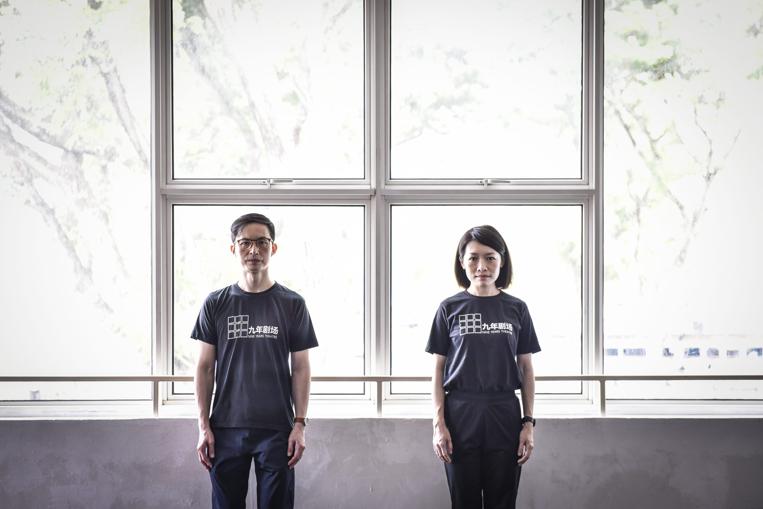 Company director Ms Mia Chee and artistic director Mr Nelson Chia in Nine Years Theatre's new home at Kampong Glam's Aliwal Arts Centre. The group had barely moved in when the Circuit Breaker kicked in. It will remain quiet till restrictions are lifted for arts spaces. Photo by: Caroline Chia