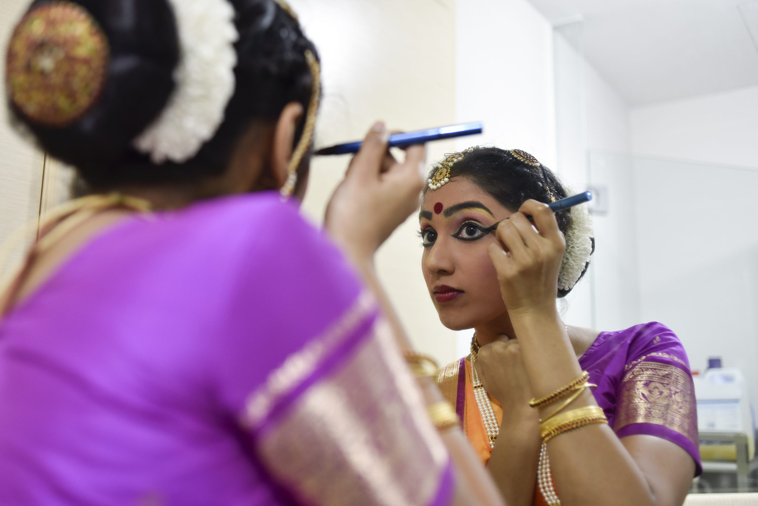 Ms Ahtherai Rashasegaran has been a company dancer with Bhaskar's Arts Academy for close to eight years. While she is grateful for the online classes, collaborating with musicians and getting choreography right takes a lot more time these days. Her show in July has been cancelled but she is hoping that the one in early October will still go as planned. Photo by: Caroline Chia