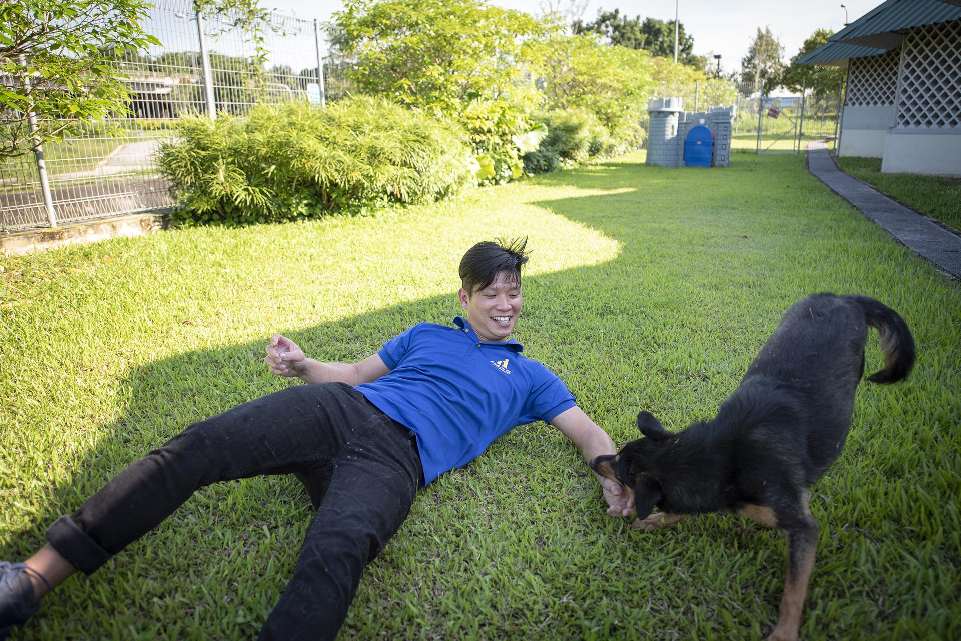 Yao Huang, shelter supervisor at SPCA Singapore