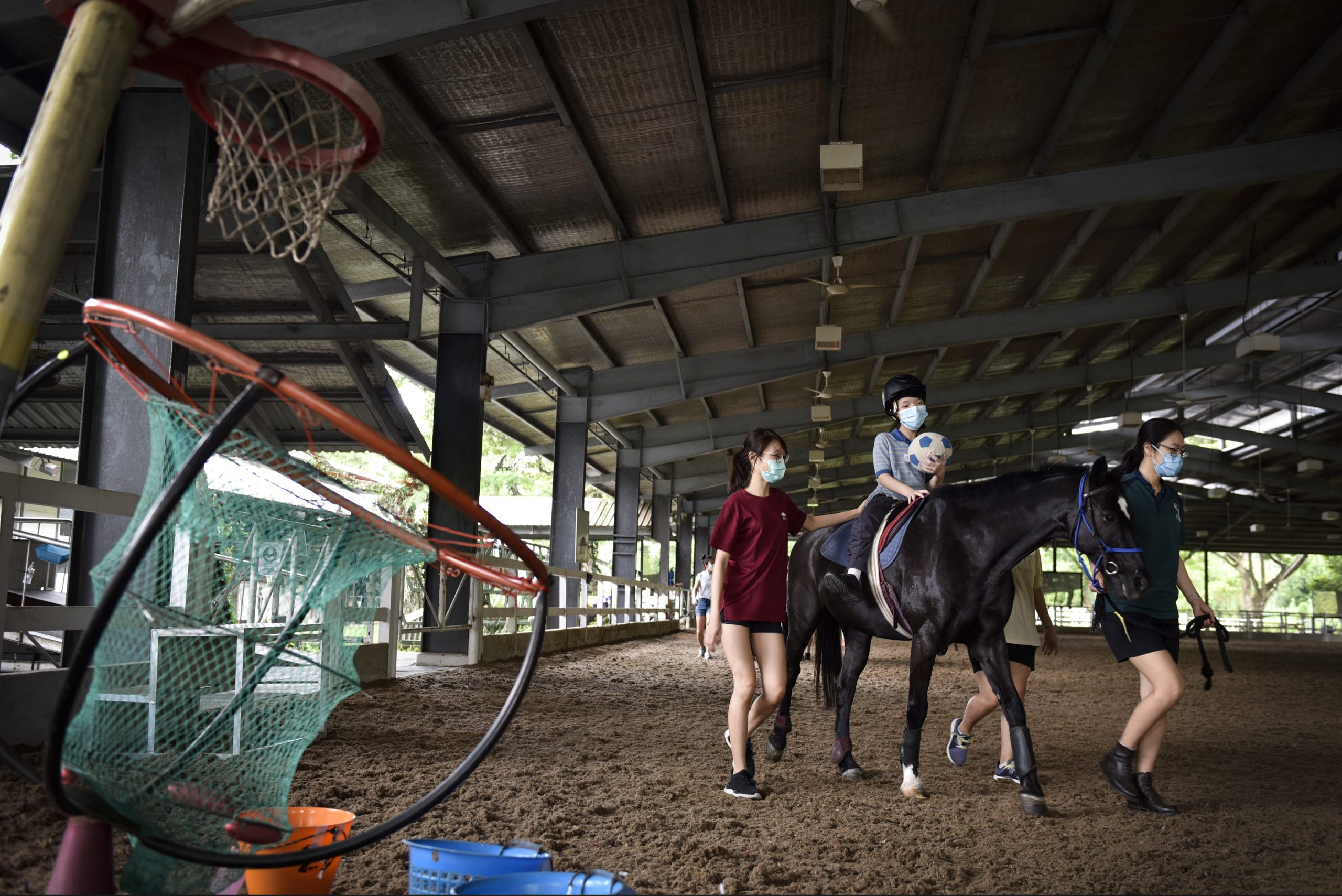 Hippotherapy, run by RDA Singapore, has been shown to improve mobility, motor coordination, balance, respiration and self-confidence of people with disabilities. Through donations and help from volunteers, clients like Elijah (pictured) ride with therapy horses or ponies free of charge. CAROLINE CHIA
