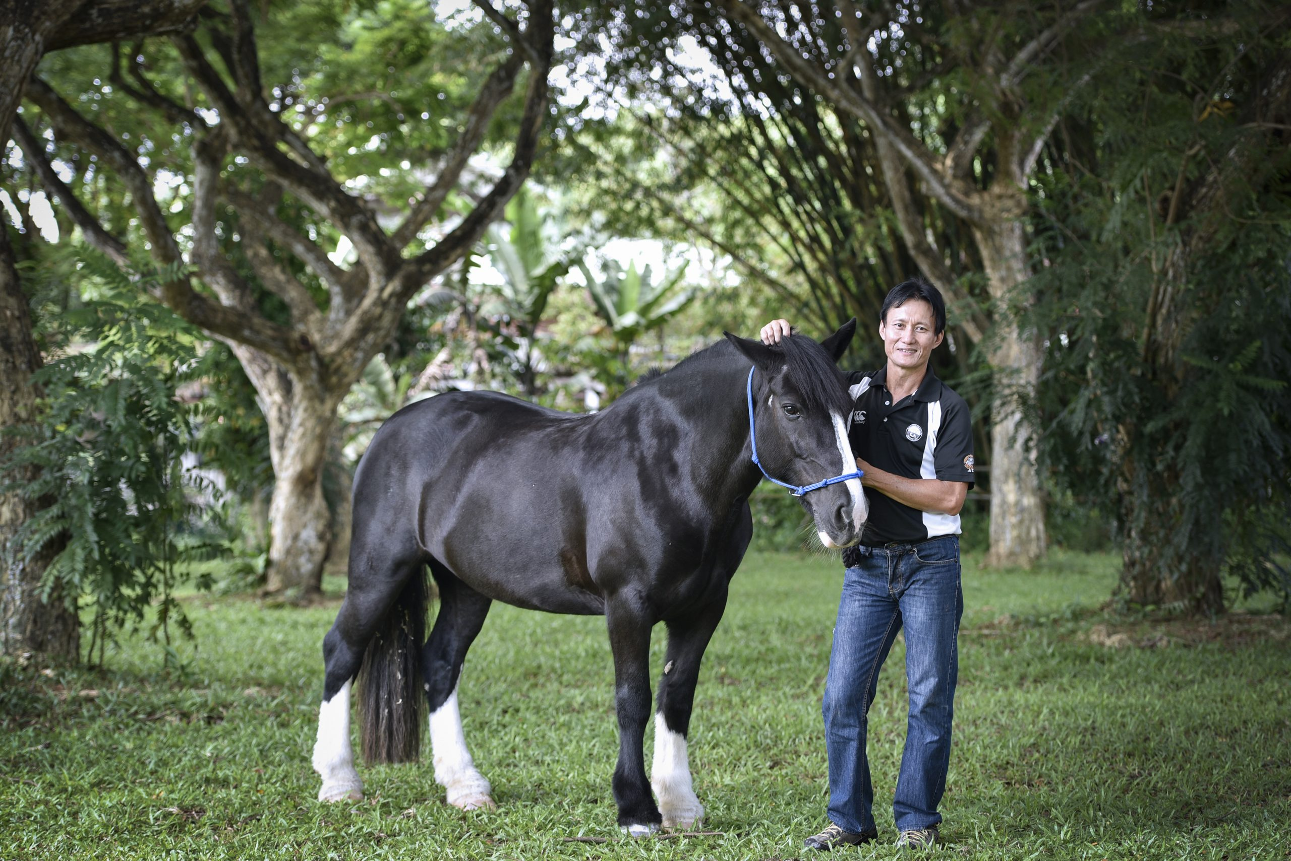 Mr Hazrin Chong Abdullah, qualified equestrian coach and riding instructor at RDA Singapore has spent the last three decades working with horses and now helps riders with special needs.