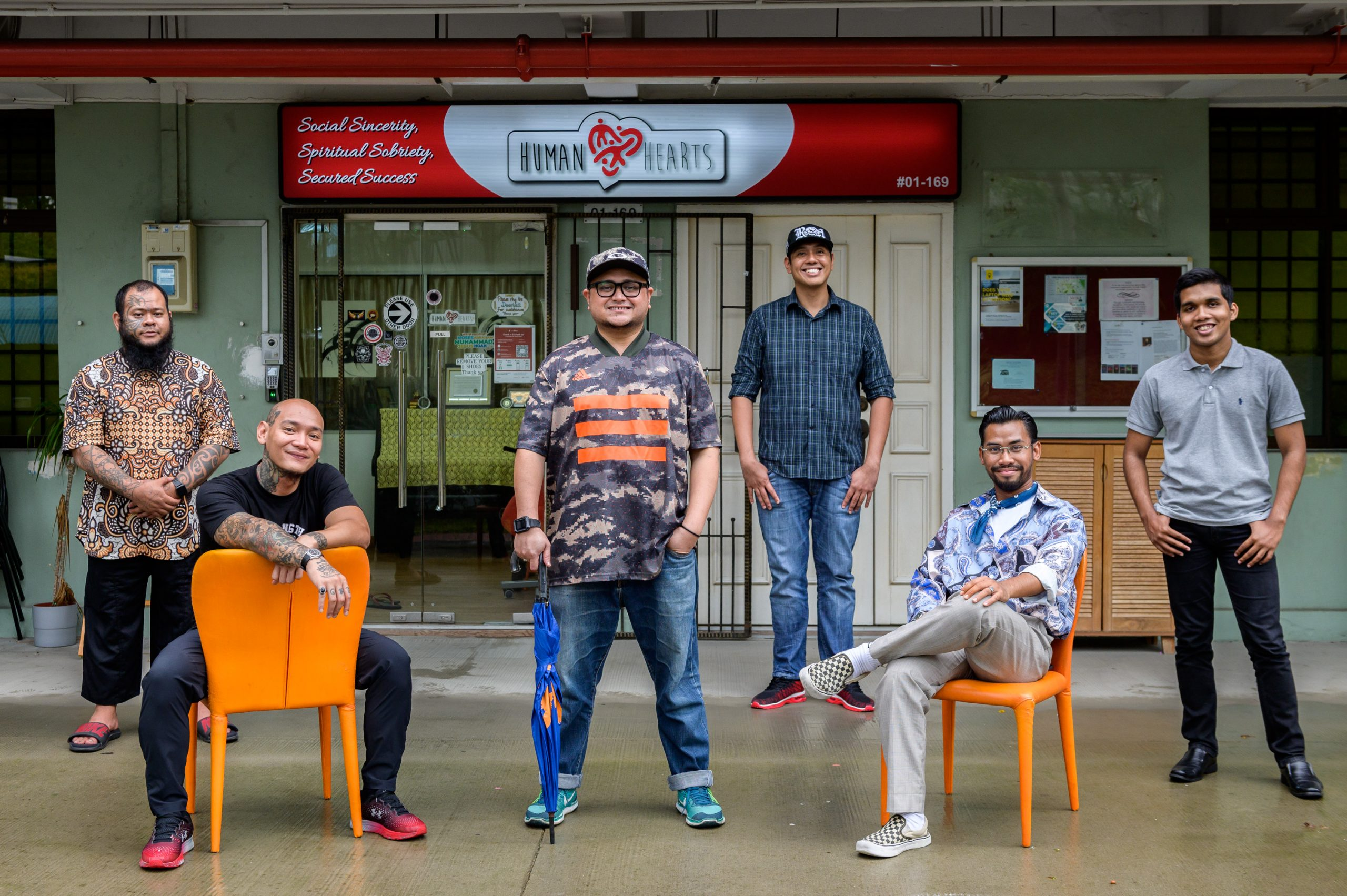 Members of the cofounding team of Human HeartS are all reformers. From left to right: Mohd Fadhil Husin, Muhammad Andyn Abdul Kadir, Firdaus Abdul Hamid, Mohamad Shaifudin Md Yusof, Taufiq Yusof and Md Ali Jinnah