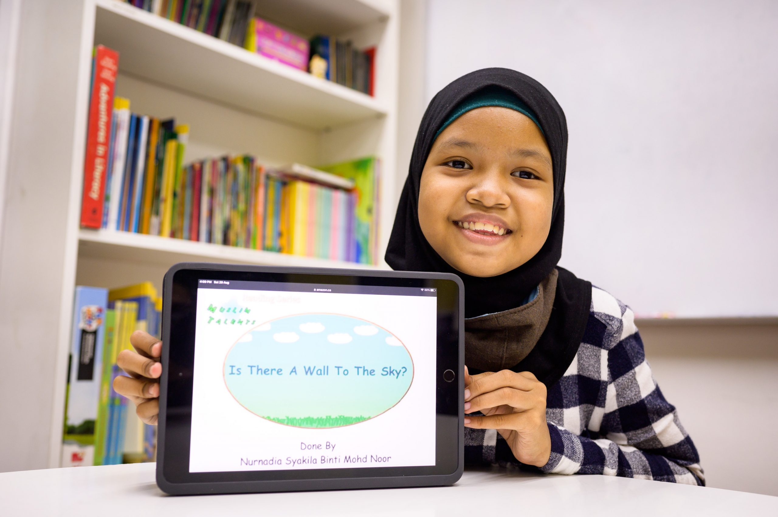 Thirteen-year-old Nurnadia Syakila hasn't let dyslexia get the better of her. Through Human Hearts, she's been able to improve her reading and writing, and has since written and illustrated her own e-book, which is now on sale at Amazon Books.