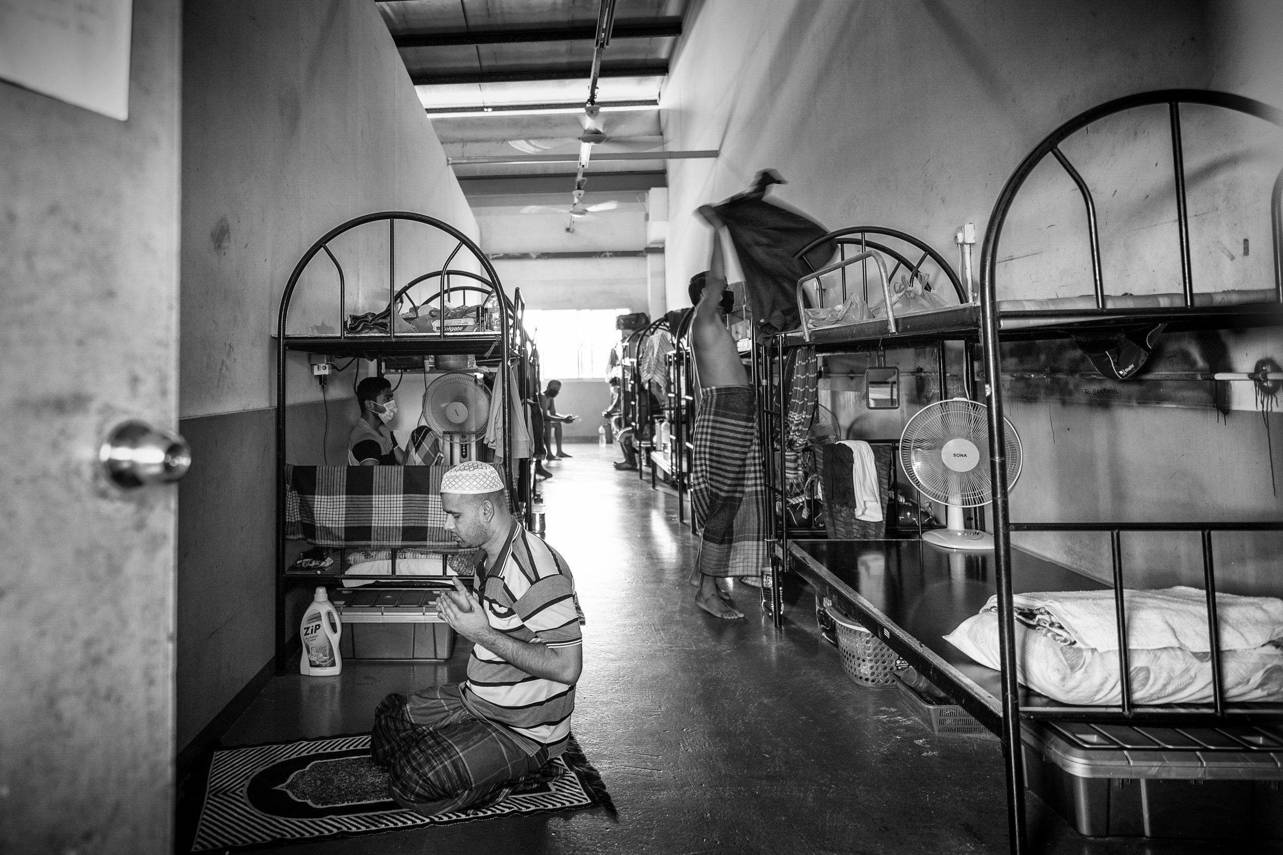Quarantined in crowded rooms at factory-converted dormitories, migrant workers were most concerned about not having jobs and income, being sent back home, and the lack of interaction outside of their confines