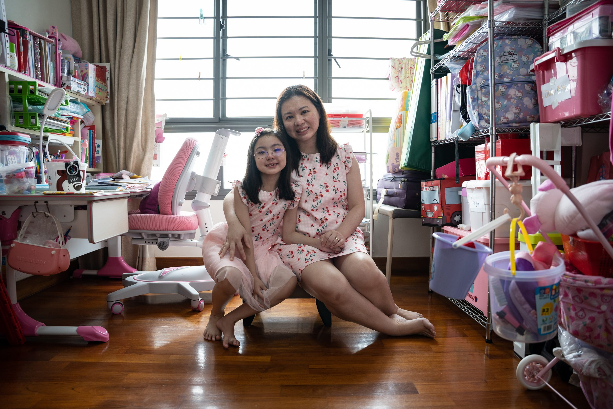 The Circuit Breaker was tough for Stephanie Lau, 8, but through patience and understanding, her mum Madam Lee Pei Ling, a senior staff nurse, supported her and kept her occupied with baking and gardening when Madam Lee wasn't working.