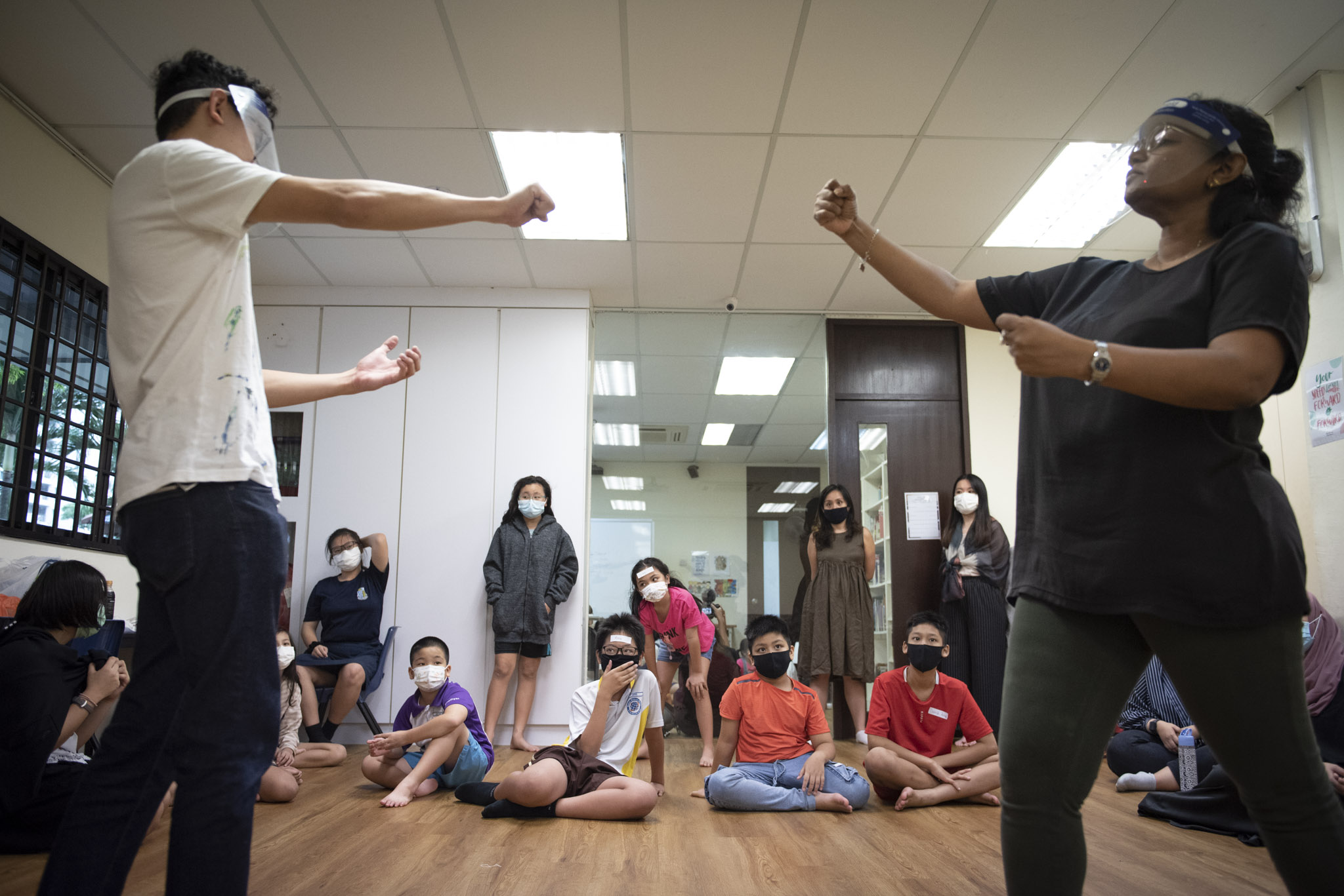 As part of Theatre Thursdays, CampusImpact engaged Pangdemonium to lead a four-week workshop to help children develop speech, confidence and presentation skills