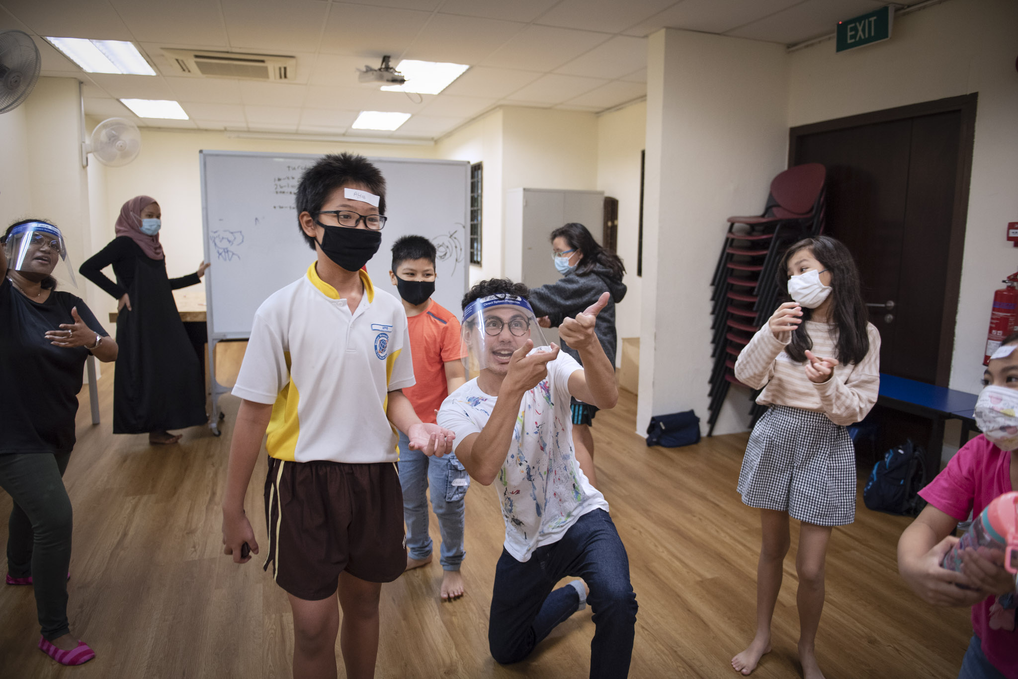 The drama techniques of theatre help children open up and encourage freedom of expression