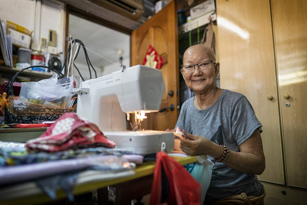Madam Amy Lee, 71, is a two-time breast cancer survivor. Working through the pain and discomfort of chemotherapy that immobilised her at points, she sought help getting cloth delivered to her, and found a community that showers her with well wishes, food, and concern about her health