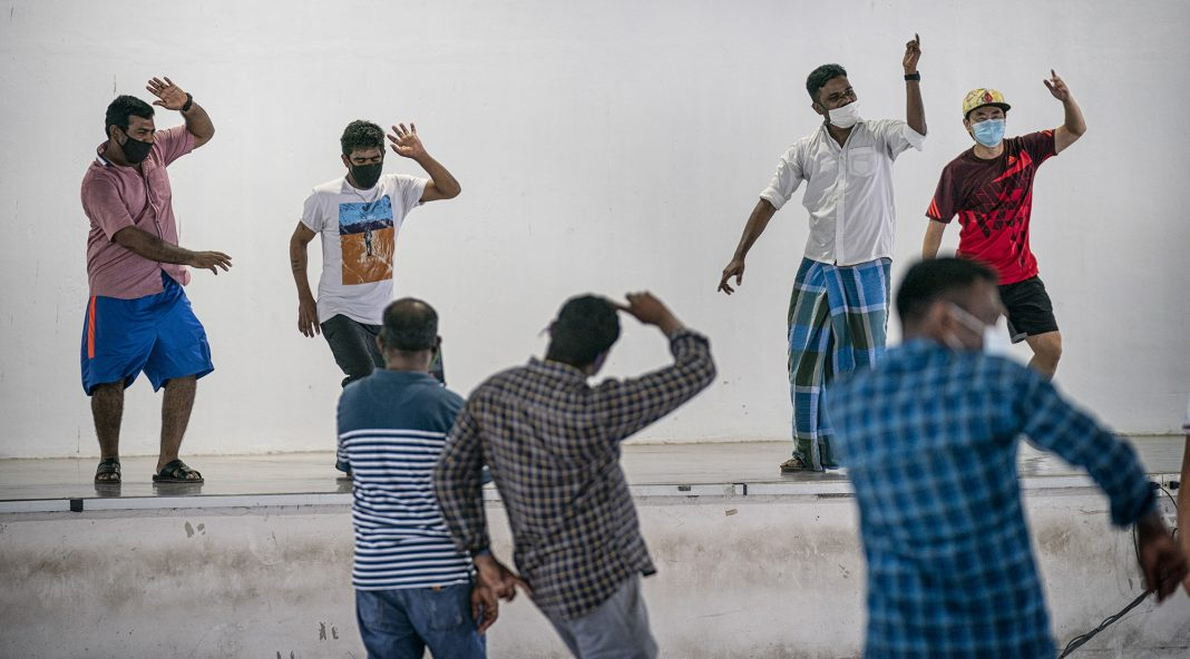 Migrant workers celebrate Deepavali 2020